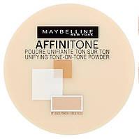 Пудра компактная Maybelline Affinitone № 17Rose Beige/розово-бежевый 9g ОРИГИНАЛ, фото 1
