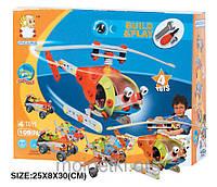 Пластиковый конструктор (4 модели вертолетов + машины)