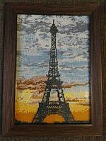Париж картина вышитая бисером