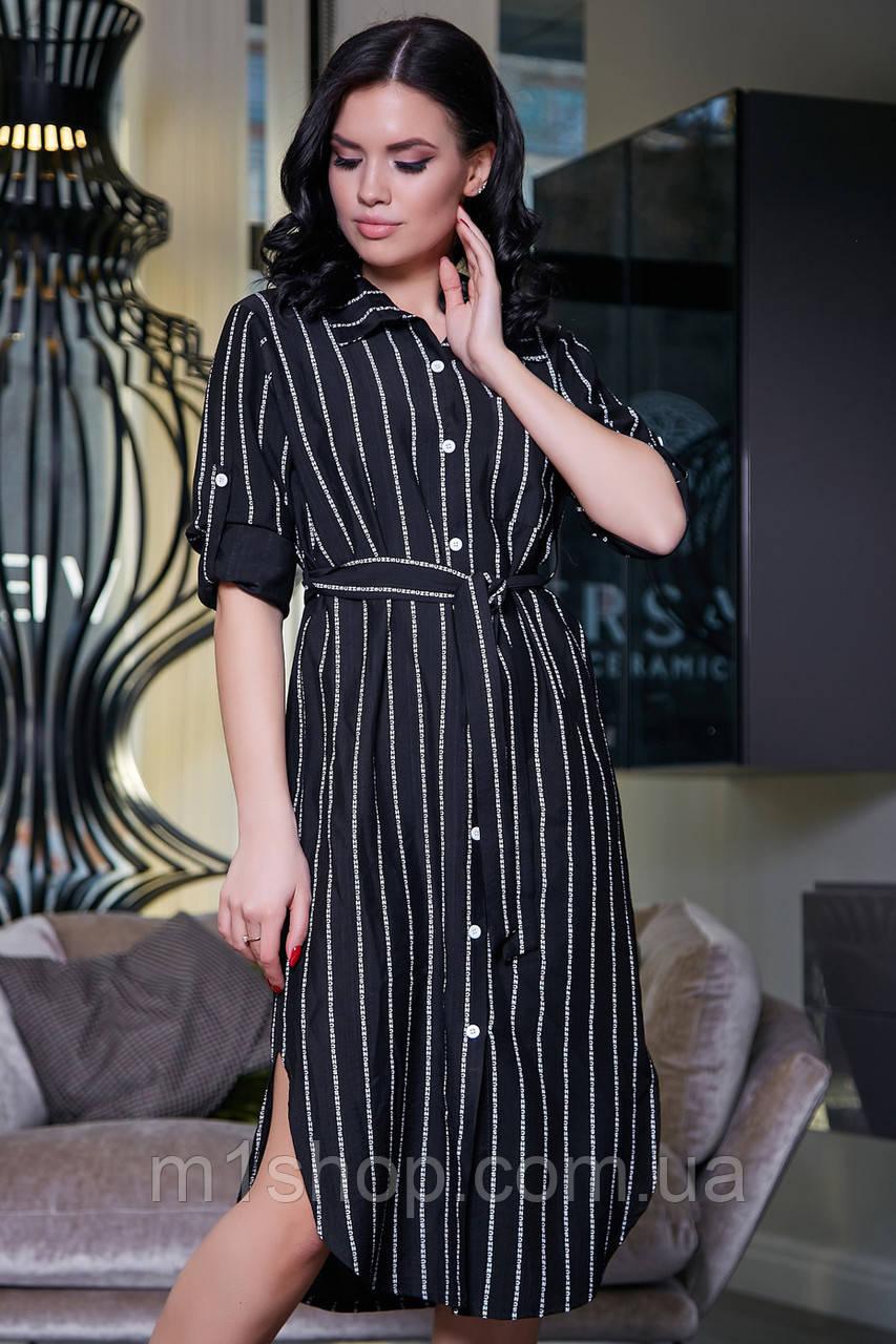 Женское летнее платье-рубашка в полоску (3387-3381-3386 svt)