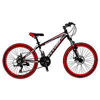 🚲Подростковый алюминиевый горный велосипед TITAN SPACE; рама 13; колеса 24