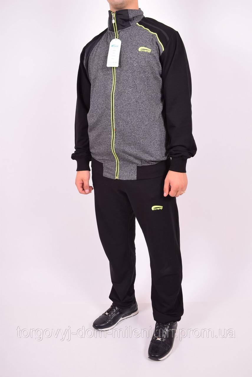 Костюм спортивный мужской (цв.серый/салатовый) Cramp 4102 Размер:46,48