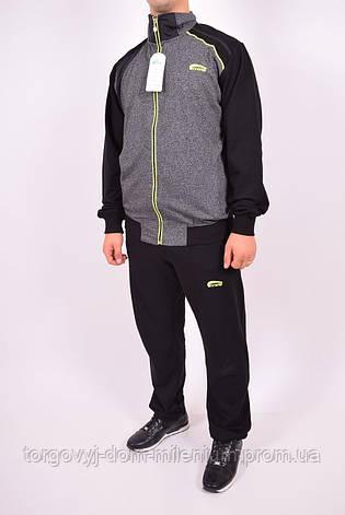 Костюм спортивный мужской (цв.серый/салатовый) Cramp 4102 Размер:46,48, фото 2