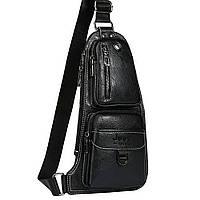 Мужская сумка Jeep 777 Bag Чёрная D1001