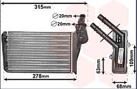 Радиатор печки отопитель   (234x158x42) RENAULT CLIO II, THALIA I, THALIA II 1.1-3.0 02.98-