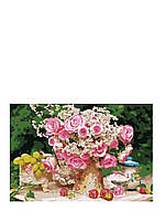 Картины по номерам Большой букет из чайных роз 2