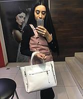 Большая белая сумка в натуральной коже кожаные сумки белые