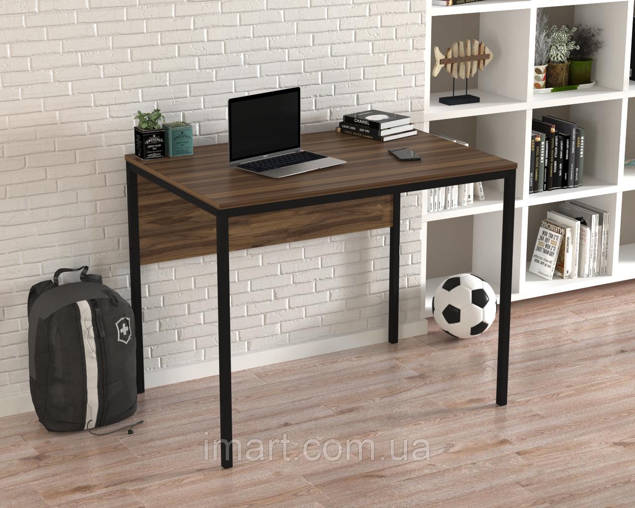 Купить Письменный стол Loft design L-2p mini Орех Модена. Комп'ютерний стіл для дому та офісу