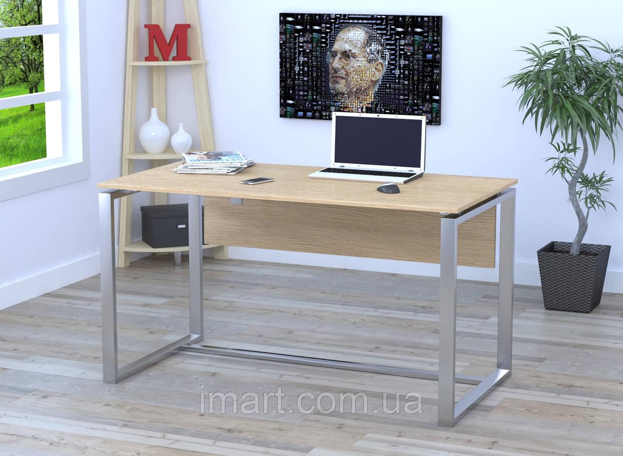 Письменный стол Loft design Q-135 с царгой Дуб Борас. Комп'ютерний стіл для дому та офісу