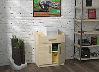 Тумба для принтера Loft design L-640 Дуб Борас. Тумбочка для дома и офиса