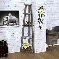 Стеллаж угловой Loft design L-180 Дуб Палена для дома и офиса
