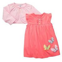 Комплект для девочки (платье+болеро)  6 месяцев