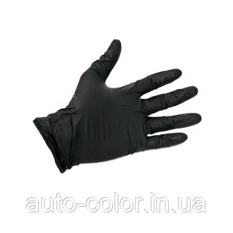 Перчатки нитриловые высокопрочные   размер L 100шт (черные)