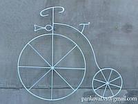 Велосипед-панно, велосипед вывеска на стену, велосипед кованый