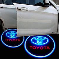 Подсветка дверей автомобиля, проекция логотипа Toyota