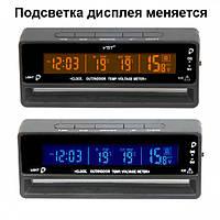 Часы VST-7010v с 2-мя датчиками температуры и вольтметром, меняется цвет экрана