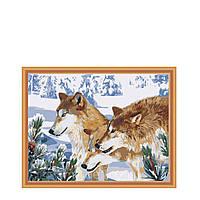 Картина по цифрам Волчья стая