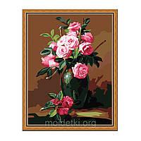 Картины по номерам Букет из чайных роз