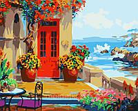 Раскраска Веранда с видом на море