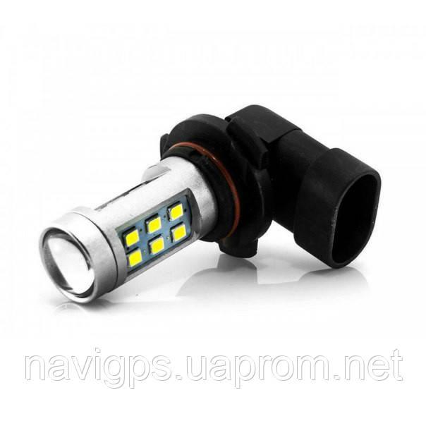 LED лампа HB3 9005 P20d, 21-SMD 3535, 12В, драйвер, сверхяркая 840Lm