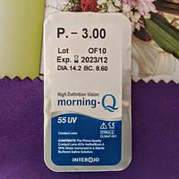 Контактні лінзи Interojo, Morning Q55 UV (Монінг Ку 55 ЮВі)