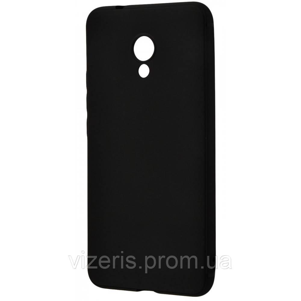 Чехол- накладка на Meizu M6S Силикон 0.5 mm Black Matt