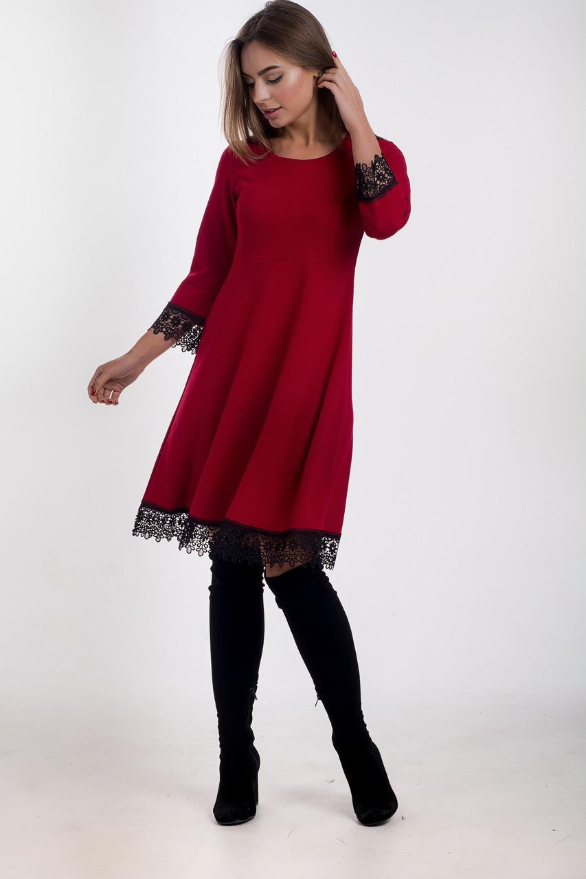 Платье K&ML 505 красный 44