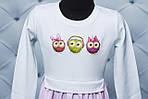 """Платье для девочки с наклейкой """"Совушка"""", фото 4"""