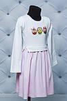 """Платье для девочки с наклейкой """"Совушка"""", фото 2"""