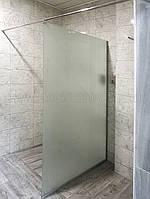 Стеклянная перегородка для душа, 900 х 2000 мм., прозрачное, одностороннее матирование