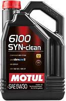 Масло моторное MOTUL 6100 SYN-CLEAN SAE 5W30 (5L)/107948(CHRYSLER, GM, MERCEDES и VAG)