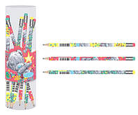 """Олівець ч/гр. круглий з ласт. в пл. тубі """"MTY"""", 36 шт./уп. 280513"""