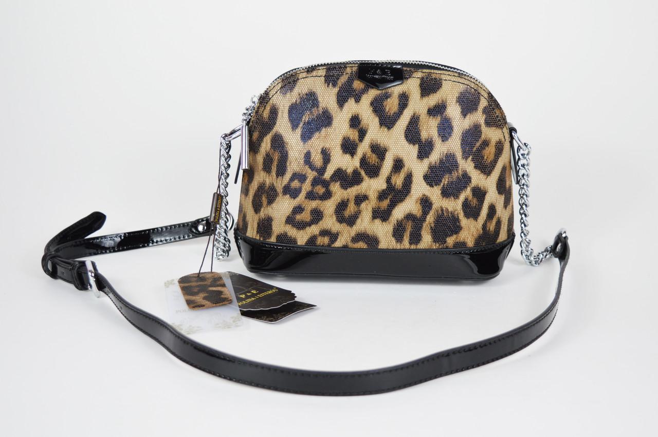 4469380b469d Сумка маленькая леопардовая Polina & Eiterou 8571 - КРЕЩАТИК - интернет  магазин обуви в Александрии