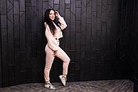 Модный женский спортивный костюм | Пудра, фото 1