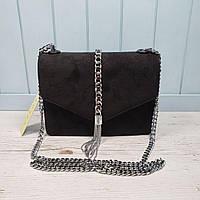 Женская замшевая маленькая сумка - клатч