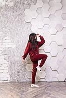 Женский стильный спортивный костюм   Спелая вишня