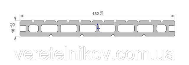 Террасная доска HOLZDORF Impress (Хольцдорф Импрэс) 182×18х2400 мм.
