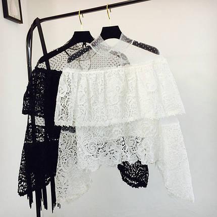 Жіночий мереживна блузка, фото 2