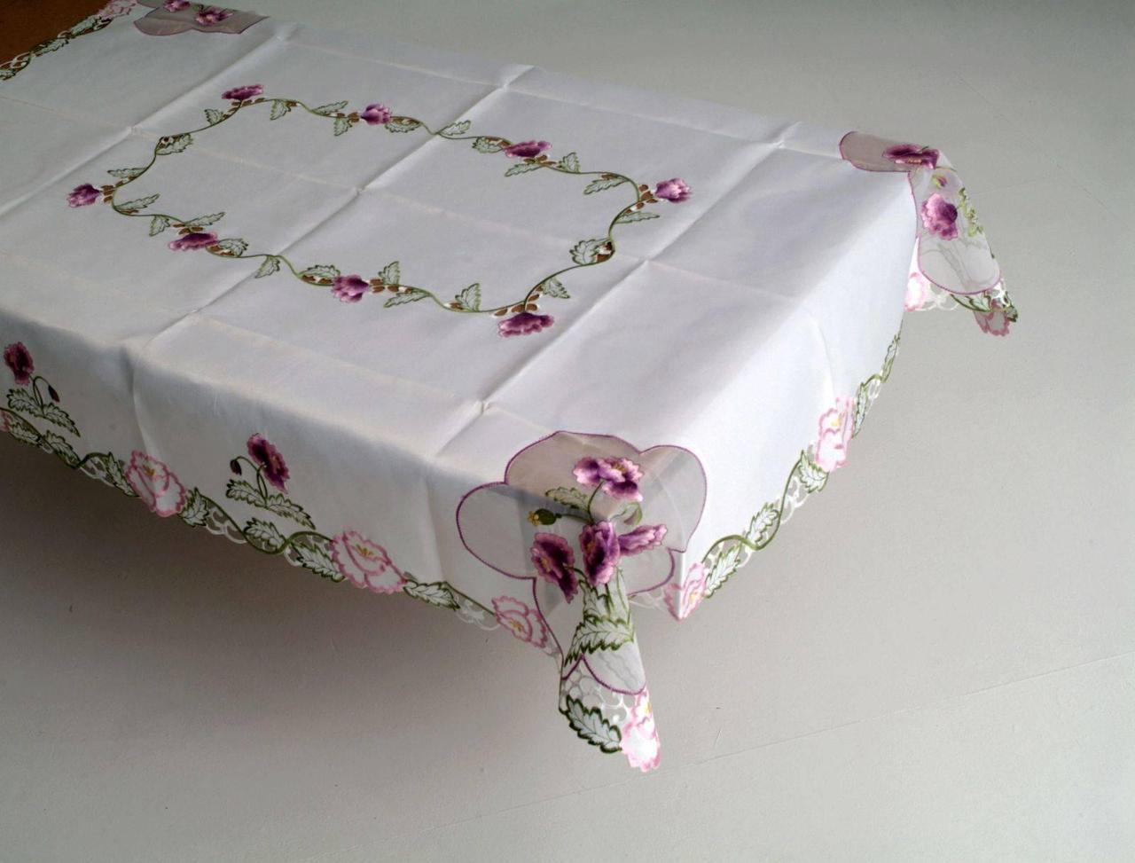 Скатерть на кухонный стол170*130 цветы GM