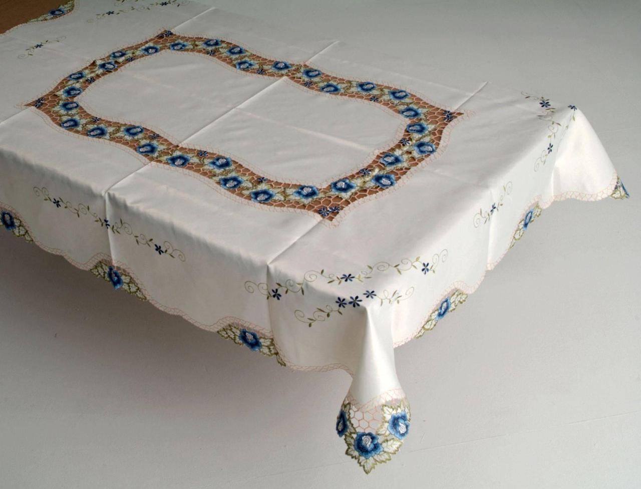 Скатерть на кухонный стол васильки 170*130