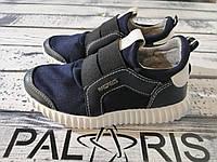 Легкие детские летние кроссовки для девочек темно-синие  Palaris 27-40 (р)