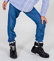 Низ лето брюки штаны легкие внизу на резинке, зауженные дев. синий 95%хлопок,5%эластан 13531566 Melby Италия