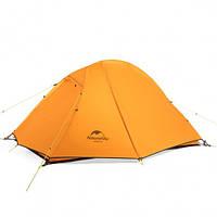 Палатка четырехместная Naturehike с алюминиевыми дугами оранжевая