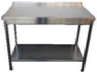 Стол с бортом и полкой 600х600х850мм