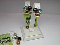 Набор: женские серьги  и подвеска с бриллиантами