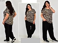 Літній костюм з леопардовим принтом, з 50-64 розмір, фото 1