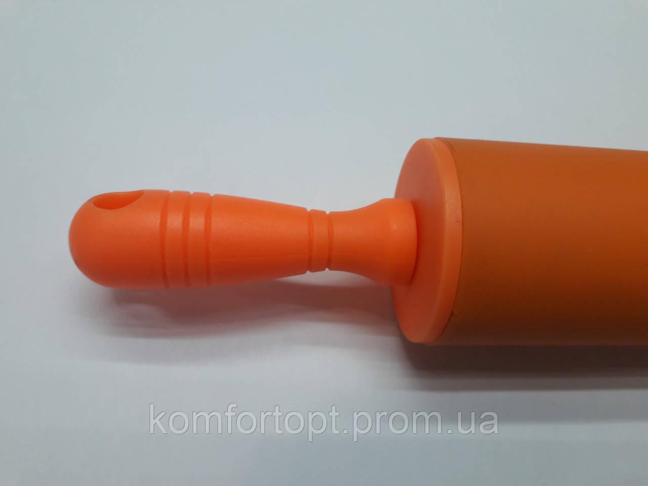 Скалка с силиконовым покрытием маленькая
