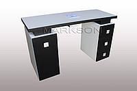"""Маникюрный стол M117 """"Триумф на две тумбы """" С металлическими колесами"""