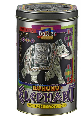 Чай черный Battler Слон Рухуну 200 гр. Ж/Б