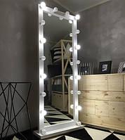 Зеркало напольное мобильное с подсветкой M610 PAKS для дома и салонов красоты